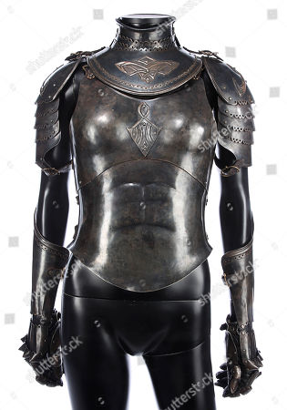Stock Photo of Sonja's (Rhona Mitra) hero battle armour from Patrick Tatopoulos' action-horror prequel Underworld: Rise of the Lycans. Estimate: £2000 - £3000.