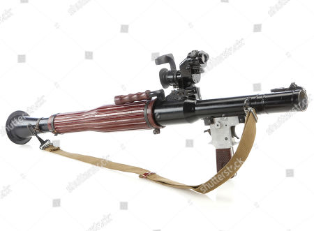 Stock Image of The Joker's (Heath Ledger) rocket-propelled grenade launcher from Christopher Nolan's comic-book action thriller The Dark Knight. Estimate: £8000 - £10000.