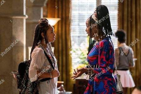 Logan Browning as Samantha White and Ashley Blaine Featherson as Joelle Brooks