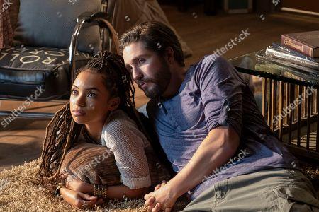 Logan Browning as Samantha White and John Patrick Amedori as Gabe Mitchell