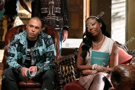 Stock Photo of Jemar Michael as Al and Nia Jervier as Kelsey Phillips