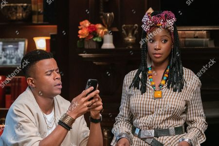 Stock Picture of Marque Richardson as Reggie Green and Ashley Blaine Featherson as Joelle Brooks