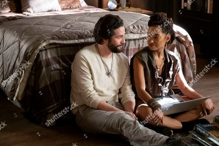 John Patrick Amedori as Gabe Mitchell and Logan Browning as Samantha White