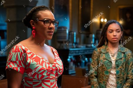 Courtney Sauls as Brooke and Logan Browning as Samantha White