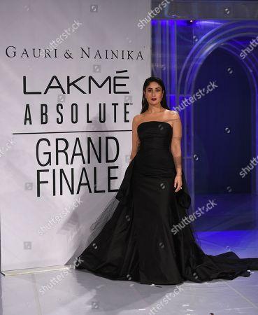 Bollywood actor Kareena Kapoor Khan on the catwalk
