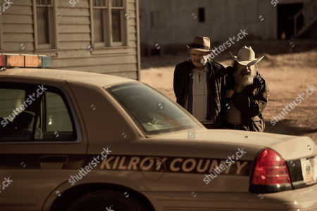 Stock Picture of Kurtwood Smith as Uncle Dave and Jim Becker as Sheriff Dolittle