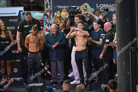 Editorial picture of Matchroom Boxing Weigh-In, Boxing, Old Spitalfields Market, London, United Kingdom - 30 Aug 2019