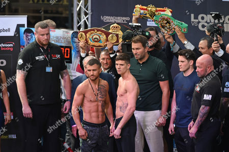 Editorial image of Matchroom Boxing Weigh-In, Boxing, Old Spitalfields Market, London, United Kingdom - 30 Aug 2019