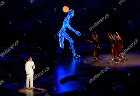 Chinese actor Jackie Chan performs during the FIBA Basketball World Cup 2019 opening ceremony at the Beijing National Aquatics Center or Water Cube in Beijing, China, 30 August 2019.