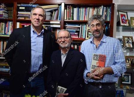 Jeff Merkley, Dr. Raul Hernandez and Mitchell Kaplan