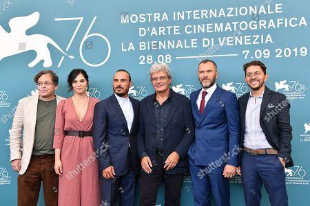 Stock Picture of Roberto De Francesco, Daniela Ioia, Francesco Di Leva, Mario Martone, Massimiliano Gallo and Adriano Pantaleo