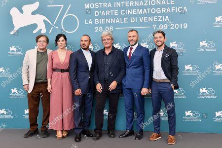 Stock Photo of Roberto De Francesco, Daniela Ioia, Francesco Di Leva, Mario Martone, Massimiliano Gallo and Adriano Pantaleo