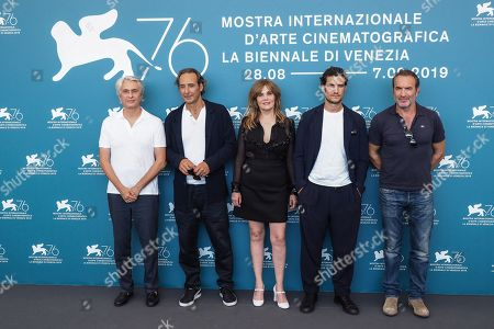 Alain Goldman, Alexandre Desplat, Louis Garrel, Emmanuelle Seigner and Jean Dujardin