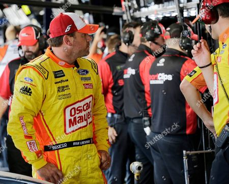Ryan Newman looks on after practice for a NASCAR auto race, in Darlington, S.C