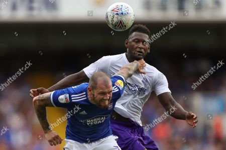 James Norwood of Ipswich Town holds off Aaron Pierre of Shrewsbury Town - Ipswich Town v Shrewsbury Town, Sky Bet League One, Portman Road, Ipswich, UK - 31st August 2019 Editorial Use Only - DataCo restrictions apply