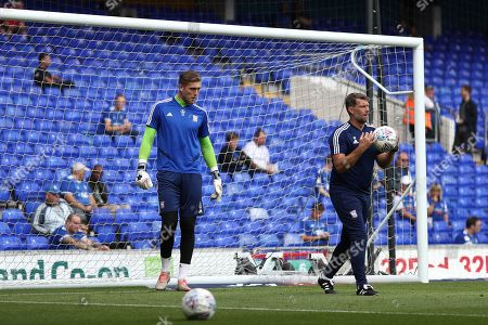 Stock Picture of Tomas Holy of Ipswich Town trains with goal-keeping coach, Jimmy Walker - Ipswich Town v Shrewsbury Town, Sky Bet League One, Portman Road, Ipswich, UK - 31st August 2019