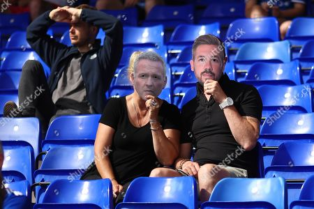 Ipswich Town fans look on as Manager of Ipswich Town, Paul Lambert and Captain, Luke Chambers - Ipswich Town v Shrewsbury Town, Sky Bet League One, Portman Road, Ipswich, UK - 31st August 2019