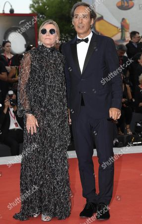 Alexandre Desplat (R) and Dominique Lemonnier (L) arrive for the premiere of 'J'Accuse' during the 76th annual Venice International Film Festival, in Venice, Italy, 30 August 2019. The movie is presented in official competition 'Venezia 76' at the festival running from 28 August to 07 September.