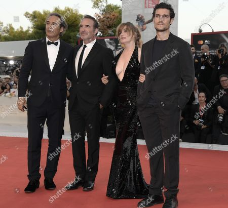 Alexandre Desplat, French actors Jean Dujardin, Emmanuelle Seigner and Louis Garrel arrive for the premiere of 'J'Accuse' during the 76th annual Venice International Film Festival, in Venice, Italy, 30 August 2019. The movie is presented in official competition 'Venezia 76' at the festival running from 28 August to 07 September.