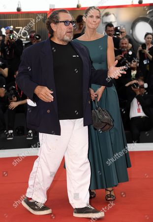 Stock Image of Julian Schnabel (L) and Louise Kugelberg (R) arrive for the premiere of 'J'Accuse' during the 76th annual Venice International Film Festival, in Venice, Italy, 30 August 2019. The movie is presented in official competition 'Venezia 76' at the festival running from 28 August to 07 September.