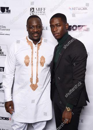 Adewale Akinnuoye-Agbaje and Damson Idris