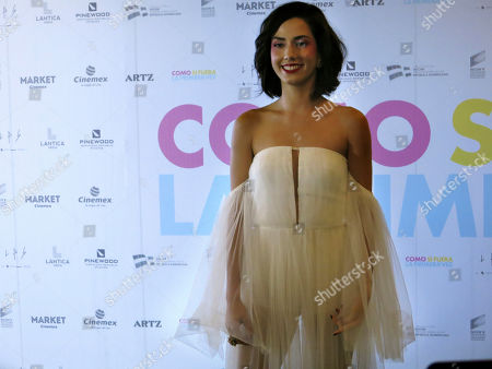 """Stock Photo of Mexican actress Ximena Romo poses for photos as she arrives for a red carpet event for the film """"Como si fuera la primera vez,"""" in Mexico City. """"Como si fuera la primera vez"""" is a remake of """"50 First Dates"""" and premieres on Friday, Aug. 30"""