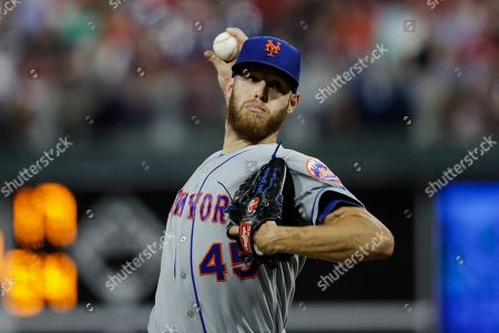 New York Mets starting pitcher Zack Wheeler in action during a baseball game against the Philadelphia Phillies, in Philadelphia
