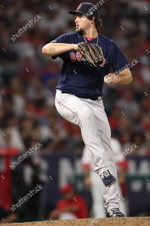 Boston Red Sox relief pitcher Josh Taylor (72) pitches in relief for the Red Sox during the game between the Boston Red Sox and the Los Angeles Angels of Anaheim at Angel Stadium in Anaheim, CA, (Photo by Peter Joneleit, Cal Sport Media)