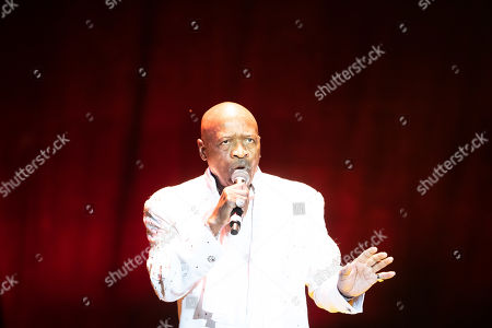 Stock Photo of Singer Walter Williams Sr. performs with The O'Jays at the LA County Fair on Friday