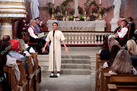 Norwegian singer and actress Evelyn Rasmussen Osazuwa performs during the confirmation ceremony of Norway's Princess Ingrid Alexandra in the Palace Chapel in Oslo, Norway, 31 August 2019. The 15-year-old daughter of of Crown Prince Haakon and Princess Mette-Marit has followed the confirmation teaching in the Asker congregation. Princess Ingrid Alexandra is second-in-line to the Norwegian throne after her father.