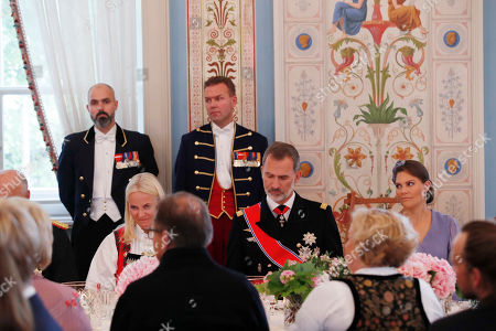 (L-R) Crown Princess Mette-Marit, King Felipe of Spain and Crown Princess Victoria of Sweden attend the luncheon at the Royal Palace after Norway's Princess Ingrid Alexandra's confirmation in Oslo, Norway, 31 August 2019. The 15-year-old daughter of of Crown Prince Haakon and Princess Mette-Marit has followed the confirmation teaching in the Asker congregation. Princess Ingrid Alexandra is second-in-line to the Norwegian throne after her father.