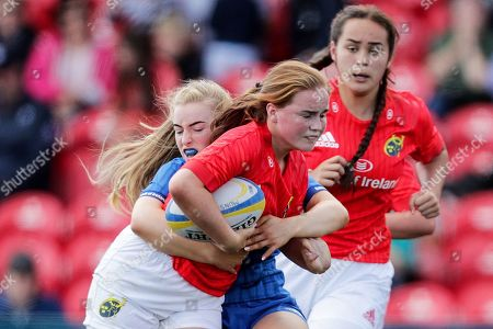 Munster Women U18 vs Leinster Women U18. Munster's Emma Connolly and Ciara Faulkner of Leinster