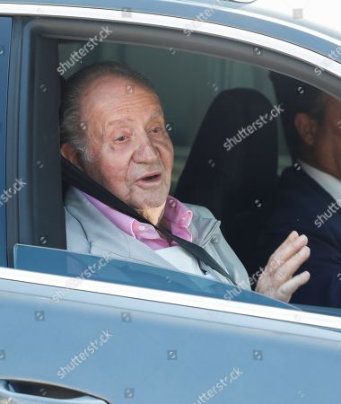 Spain's Emeritus King Juan Carlos leaves Hospital Quiron Salud in the town of Pozuelo de Alarcon, outside Madrid, Spain, 31 August 2019. Emeritus King has been discharged from hospital after undergoing a triple bypass surgery last 24 August.