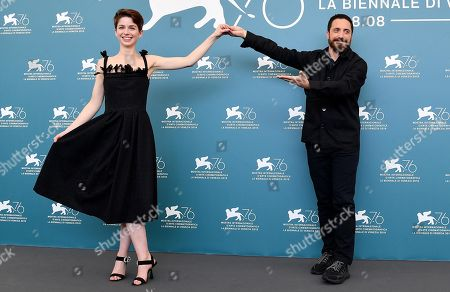 Pablo Larrain (R) and Chilean actress Mariana Di Girolamo pose at a photocall for 'Ema' during the 76th annual Venice International Film Festival, in Venice, Italy, 31 August 2019. The movie is presented in the official competition 'Venezia 76' at the festival running from 28 August to 07 September.