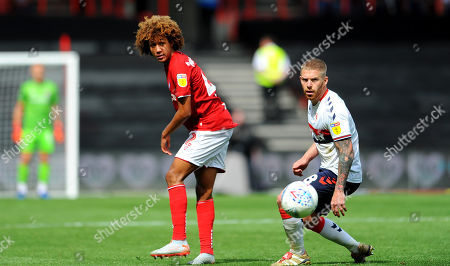 Stock Picture of Han-Noah Massengo of Bristol City competes with Adam Clayton of Middlesbrough -Mandatory by-line: Nizaam Jones/JMP