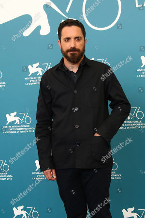Pablo Larrain poses for photographers at the photo call for the film 'Ema' at the 76th edition of the Venice Film Festival in Venice, Italy
