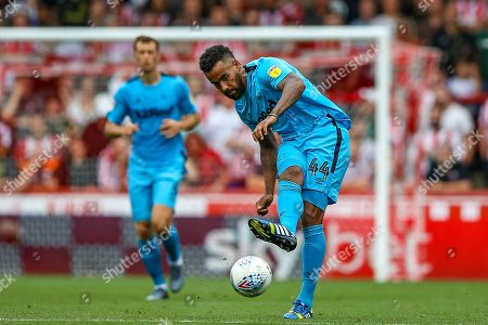 Derby County midfielder Tom Huddlestone (44) during the EFL Sky Bet Championship match between Brentford and Derby County at Griffin Park, London