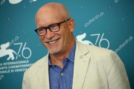 Alex Gibney poses for photographers at the photo call for the film 'Citizen K' at the 76th edition of the Venice Film Festival in Venice, Italy