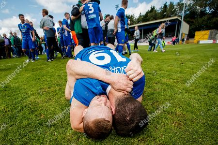 St. Michael's vs Sheriff YC. St. Michael's Russel Quirke and Jimmy Carr celebrate after the game