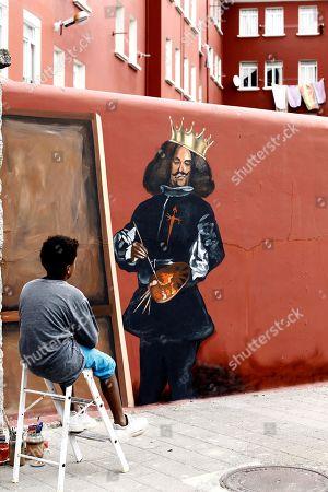 Editorial image of Meninas de Canido Street Art Festival in Ferrol, Spain - 31 Aug 2019