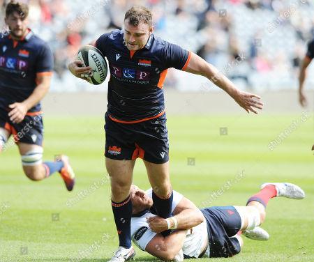 Editorial photo of Edinburgh Rugby v London Scottish, Rugby, Murrayfield, Edinburgh, Scotland, UK - 31 Aug 2019
