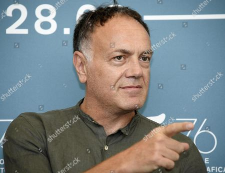 Francesco Acquaroli poses at a photocall for 'Adult in the Room' during the 76th annual Venice International Film Festival, in Venice, Italy, 31 August 2019. The movie is presented in out of competition. Costa-Gavras will receive the Premio Jager-LeCoultre Glory to Filmmaker 2019 on 31 August at the festival running from 28 August to 07 September.