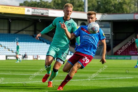 George Miller of Scunthorpe United during the EFL Sky Bet League 2 match between Scunthorpe United and Carlisle United at Sands Venue Stadium, Scunthorpe