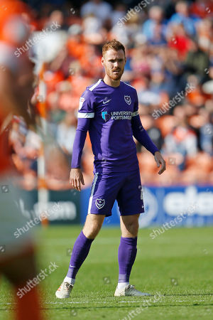 Tom Naylor of Portsmouth during the EFL Sky Bet League 1 match between Blackpool and Portsmouth at Bloomfield Road, Blackpool