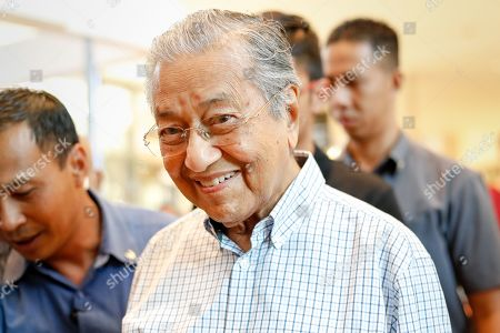 Mahathir Mohamad, Malaysia's prime minister made his appearance at the Pavilion shopping complex, after the 62th Independence Day celebrations