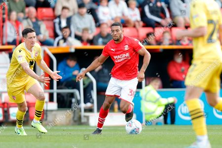 Swindon Town defender Zeki Fryers during the EFL Sky Bet League 2 match between Swindon Town and Morecambe at the County Ground, Swindon