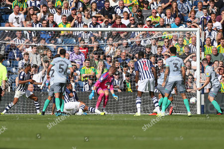 Bradley Johnson of Blackburn Rovers scores Blackburn's second goal during West Bromwich Albion vs Blackburn Rovers, Sky Bet EFL Championship Football at The Hawthorns on 31st August 2019