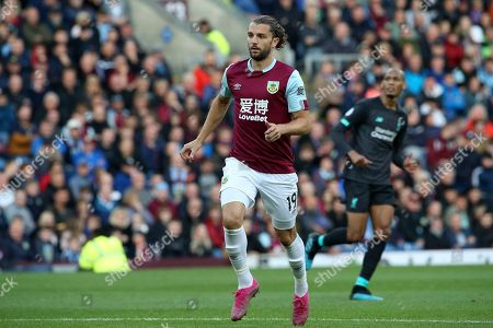 Burnley forward Jay Rodriguez (19) during the Premier League match between Burnley and Liverpool at Turf Moor, Burnley
