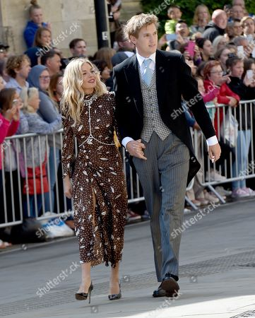 Sienna Miller and Lucas Zwirner arrive at church