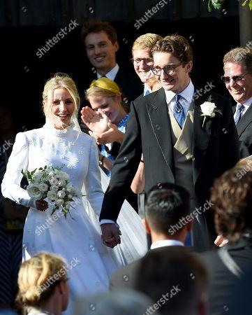 Ellie Goulding and Caspar Jopling leave York Minster after wedding